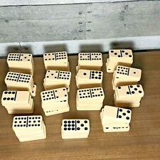 Lot of 73 Vintage Ivory Dominoes / Bag of Bones / In Good Condition