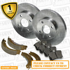Daihatsu Terios 1.3 Front Brake Discs Pads 273mm Solid Rear Shoes 229mm 85