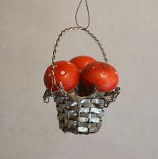 Seltenes Körbchen aus Metall mit Pilzen um 1920    (# 3735)