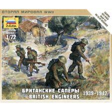 Zvezda 1/72 escalas Segunda Guerra Mundial ingenieros británicos