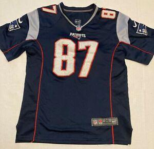 Rob Gronkowski New England Patriots Nike NFL Jersey Size Boys Medium #87 Sewn