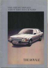 Vauxhall Royale Saloon + Coupe 1978 Original UK Sales Brochure