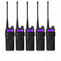 5pcs BaoFeng UV-5R Dual Band Ham Radio 3800mah Battery FM Walkie Talkie 5R 128CH