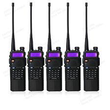 Black 5pcs BaoFeng UV-5R 2 Way Portable Radio+ 3800mah Battery Ham Walkie Talkie