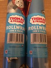 THOMAS THE TANK ENGINE, 4m WRAPPING PAPER ROLL, BIRTHDAY WRAP.
