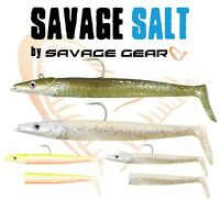 Savage Gear Saltwater Sandeel Lures Sea Fishing Tackle Lure Jig Head Bass Wrasse