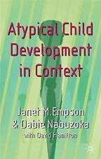 Atypical Child Development in Context, Nabuzoka, Dr Dabie Paperback Book The