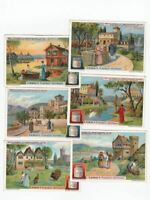 ancient and modern villas - 6 Liebig trade cards - san1064ted issued in 1912