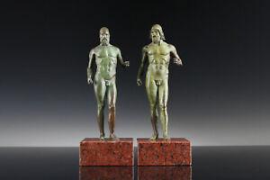 Krieger von Riace Bronze Granit Italien Archäologie Grand Tour Antike