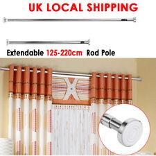 125-220Cm Extendable Telescopic Shower Curtain Rail Pole Rod Door Curtain Rail