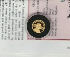 SMALL 2002 BULGARIA BARON GOLD 5 LEVA IN MINT CONDITION WITH CERTIFICATE