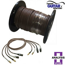 Analysis Plus BULK Chocolate Oval-In Interconnect Cable - Length 300ft