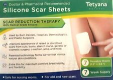 7 WEEK SUPPLY 1/2023 TETYANA SILICONE SCAR REDUCTION THERAPY REUSEABLE 7 SHEETS