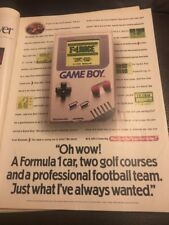 Vintage 1993 Nintendo Game Boy Print Advertisement