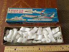 vintage tin friction 6 assorted airplane S2 made in japan box tin toy lot