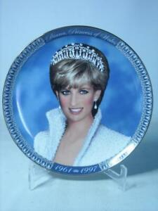 Franklin Mint PRINCESS DIANA TRIBUTE Plate + COA Letter by St Paul on Reverse