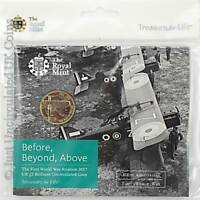 2017 WW1 100th Anniversary Aviation BU £2 Two Pound Coin Pack Royal Mint Sealed