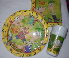 Phineas and Ferb Party Set for 10 People (Plates, Cups, Napkins)