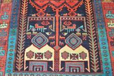 5 x 10 Superb Azerbaijani Meshkin Tea Pot Animal Design Handmade Wool Area Rug