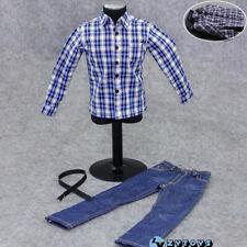 "DOLLSFIGURE FT167 1//6 White Clothing Suit Pants Shirt Tie F 12/"" Male Figure Body"