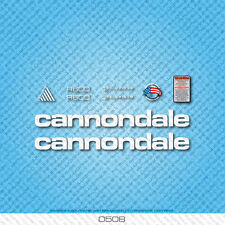 Cannondale R600 Bicycle Decals - Transfers - Stickers - White - Set 0508