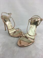 Stuart Weitzman Follie Beige Glass LTHR Evening Sandals Size 9M  D2484/