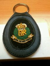 ROYAL MILITARY POLICE REGIMENT  MILITARY LEATHER KEYRING KEY FOB GIFT