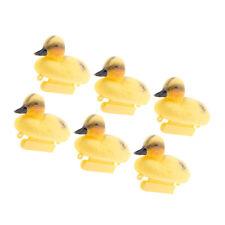 6Pcs Lifelike Yellow Floating Duckling Decoy Statue Baby Duck Figurine