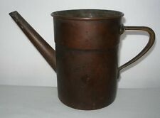 Incredible ARTS and CRAFTS Signed COPPER WATERING CAN Rich Patina MADE in ITALY