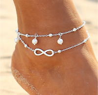 New Silver Ankle Bracelet Women, Anklet Foot Jewelry, Adjustable Chain, Beach
