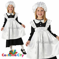 Child's Girl's Victorian Maid Servant Dickens Fancy Dress Book Week Costume