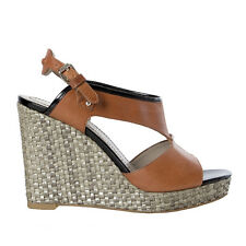 e729afd3051 41413 auth MARC by MARC JACOBS brown leather   raffia Wedge Sandals Shoes 36