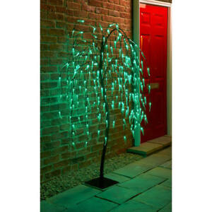 Solar Powered 4ft/5ft/6ft/70cm/82cm Cone/Topiary Trees/Leaf Branch Lights Garden