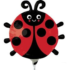 LADYBUG MINI FOIL BALLOON INSECT GARDEN DECORATION PARTY SUPPLIES