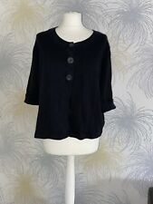 Monsoon Black Short sleeve Cardigan UK Size 20