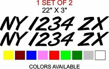 Custom CAR VEHICLE TRUCK REGISTRATION NUMBERS Letters Decals Sticker Graphics