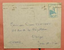 1940'S FRENCH MOROCCO 1F30 SOLO USE TO FRANCE
