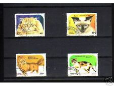 0902+  TIMBRES LAOS   SERIE TIMBRES  CHATS  N°1