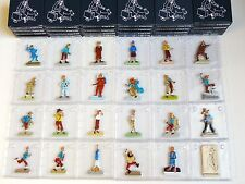 COMPLETE SET (24) TINTIN METAL FIGURINES HAND PAINTED  HERGÉ EXCLUSIVE VERY RARE