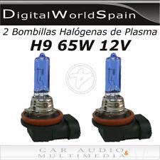 2 BOMBILLAS HALOGENAS DE PLASMA H9 65W 12V LUZ MUY BLANCA HOMOLOGADAS