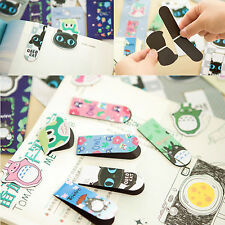 1x Cartoon Metal Magnetic Bookmarks Note Memo Stationery Book Mark Bookworm