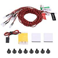 8 LED Lighting System Kit Simulation Flashing Lights for RC Airplane Helicopter