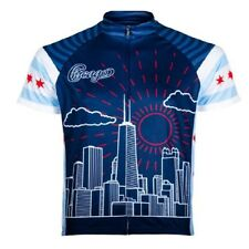 Primal Wear Chi Town Chicago Full Zip Short Sleeve Sport Cycling Jersey