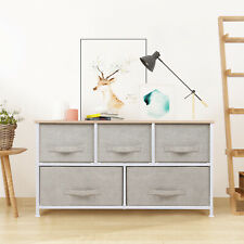Chest of Drawers Cabinet 2 Layers 5 Drawers Side Table Organiser Home Nightstand