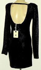 MIKA & GALA BlackTexturedWetLookPartyMicro Size10 rrp$119!