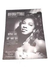 Sheet Music, Natalie Cole, Nat King Cole, Unforgettable, Duet, Bourne Co Music