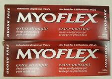 2 x Tubes Of 100 g each Extra Strength Pain Rub Cream MYOFLEX odour free