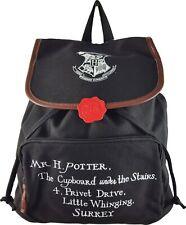 Harry Potter Backpack Bag Rucksack  Acceptance Letter Black Drawstring School