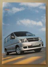 TOYOTA HIACE VANS orig 2009 2010 UK Mkt Sales Brochure