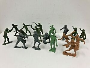 """Vintage 1963 MARX TOY SOLDIER Lot 6"""" military louis 60s us military wwii plastic"""